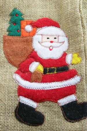 Canvas Santa bag Stock Photo - 16555123
