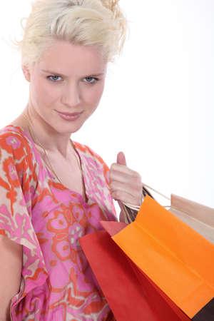possessive: Woman shopping