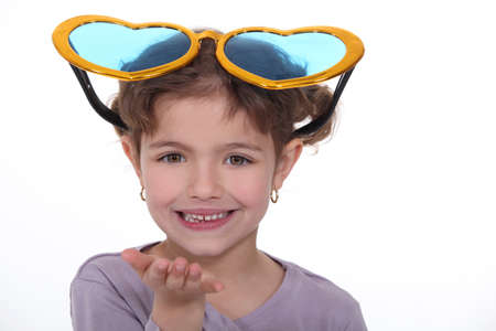 Girl with huge glasses
