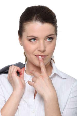 envisage: portrait of a young businesswoman Stock Photo