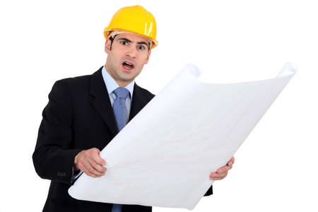 Outraged engineer Stock Photo - 16547054