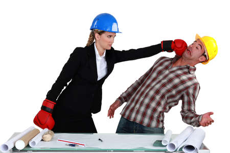 confrontational: Co-workers fighting