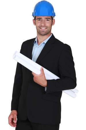 young architect all smiles Stock Photo - 16547028