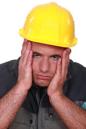 tradesman: Stressed builder