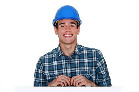 Happy handyman Stock Photo - 16546551