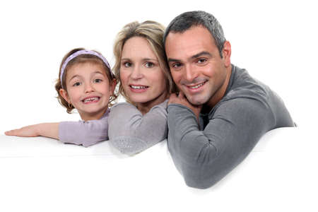 happy family on the couch Stock Photo - 16554033
