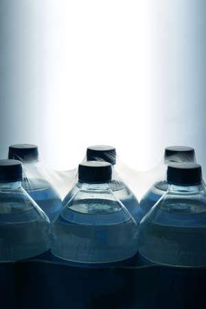 six packs: Bottled water