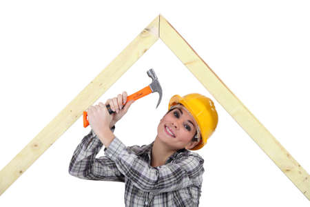 female woodworker Stock Photo - 16670670