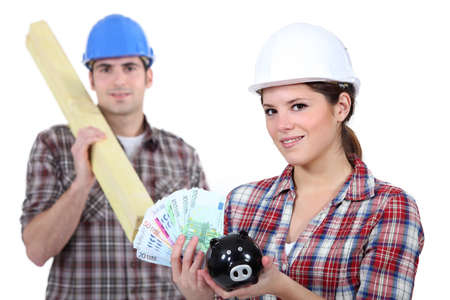 craftsman and craftswoman can help you save a lot of money Stock Photo - 16670041
