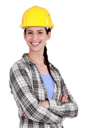 craftswoman: craftswoman posing
