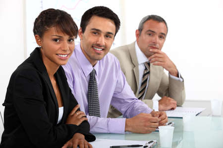 Interview panel Stock Photo - 16670219