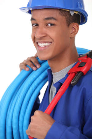young African blue collar Stock Photo - 16670148