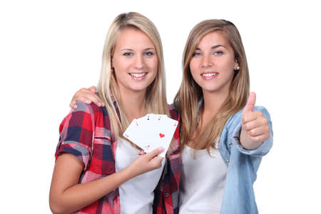 jeu de cartes: jeunesse jeu de carte Banque d'images