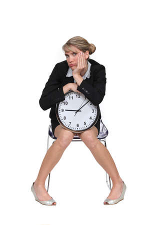 exasperate: Woman fed up with waiting