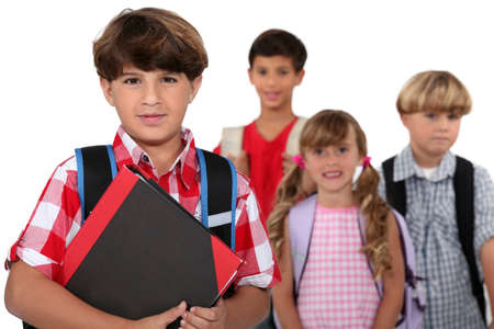 Children going to school Stock Photo - 16670031