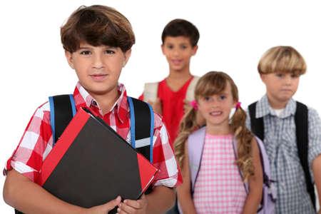 Children going to school Stock Photo - 16670031