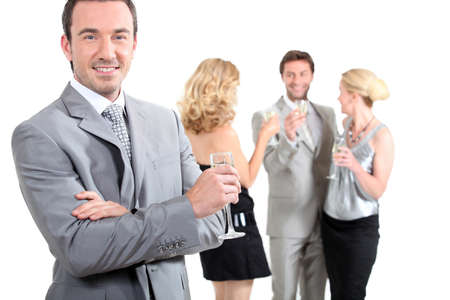 accomplices: group at a party