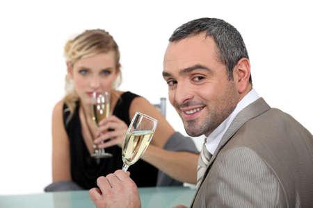 romantic dinner at restaurant Stock Photo - 16669888