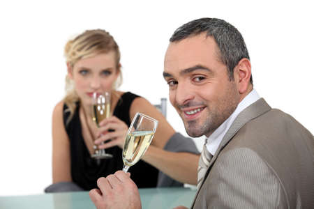 romantic dinner at restaurant Stock Photo - 16669888