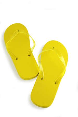 flipflops: Yellow flip-flops