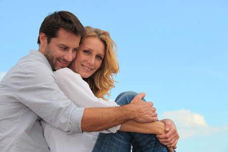 soul mate: couple hugging
