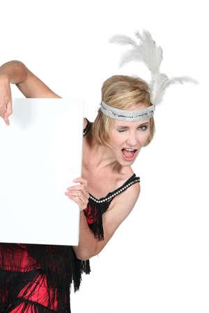 tassles: Woman in a flapper