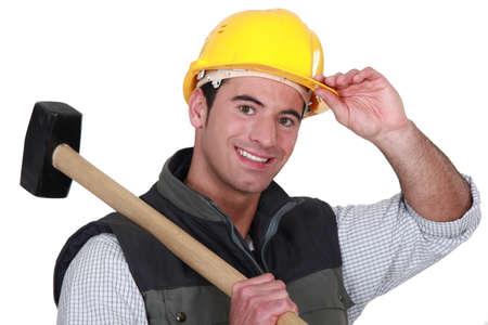 annihilation: Man with sledge-hammer