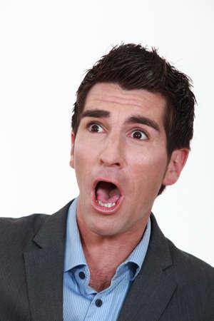 Shocked businessman photo