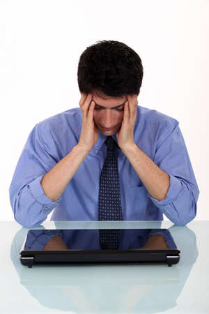 distraught: Distraught man Stock Photo