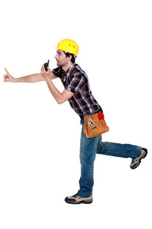 happening: A foreman trying to prevent something bad from happening
