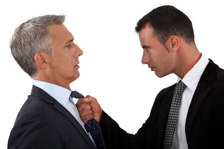 Young man fed-up with his boss Stock Photo - 16670213
