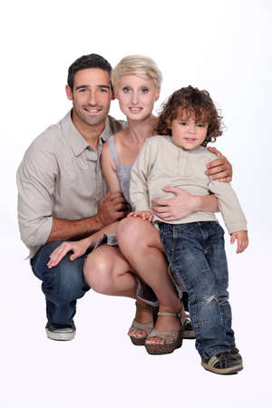 Portrait of parents with child Stock Photo - 16670071