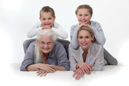 Portrait of different generations photo