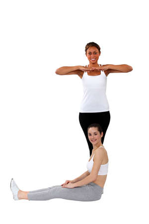 Women practising a dance routine