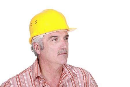 technically: portrait of mature foreman