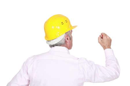 tasker: Man in a hardhat