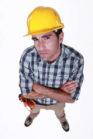 dubious: A dubious  construction worker.
