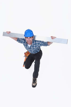 balk: Construction worker Stock Photo