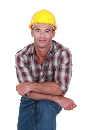 Casual male builder photo