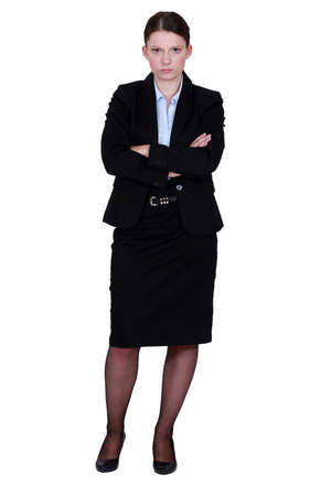 A moody businesswoman Stock Photo - 16804368