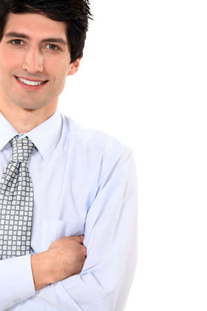 Businessman stood with arms folded Stock Photo - 16808342