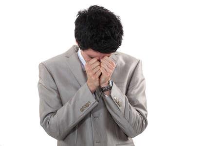 Stressed businessman Stock Photo - 16808337