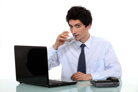 Executive office drinking water Stock Photo - 16808007