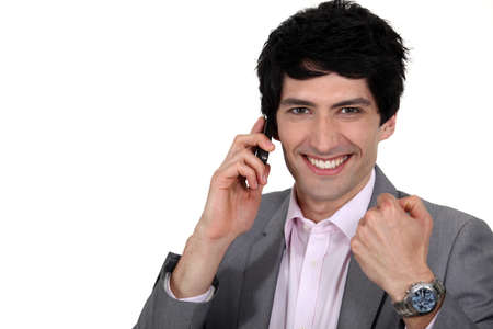 Man receiving good news Stock Photo - 16807972