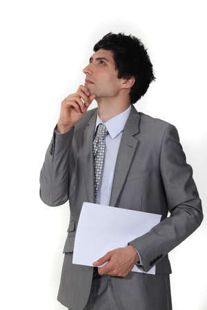 sideway: A pensive business  Stock Photo
