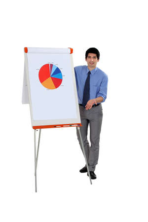 Business professional explaining the results of market research Stock Photo - 16805240