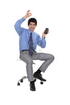 Executive receiving good news Stock Photo - 16805347