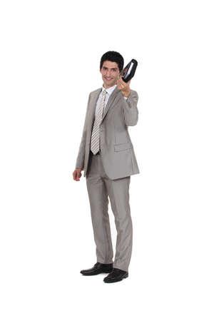 spiffy: Businessman holding an agenda