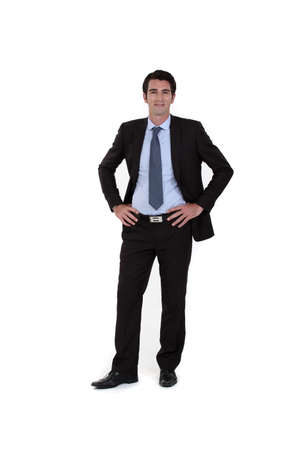 Full-length portrait of a businessman Stock Photo - 16804367