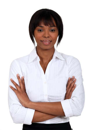 Businesswoman with her arms folded Stock Photo - 16808111